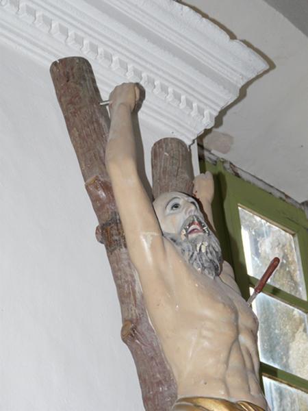 statue (petite nature) : Martyre de saint Barthélémy