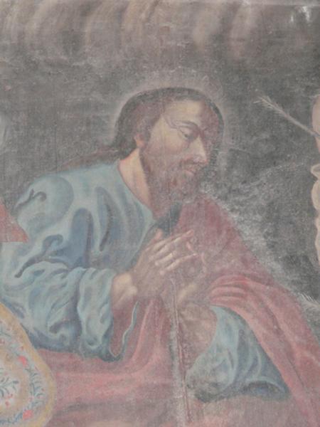 tableau : Apparition de Notre-Dame du Mont Carmel à saint Philippe Neri, saint Barthélémy et saint Sébastien