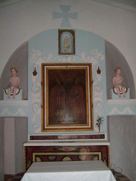 Ensemble du maître-autel de saint Corneille et de saint Cyprien
