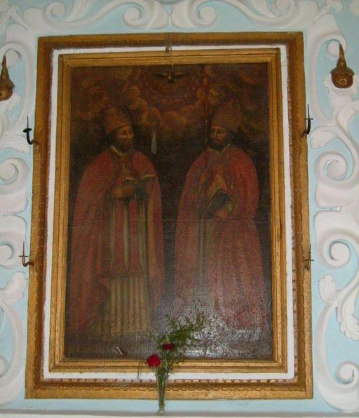 Tableau d'autel : Saint Corneille et saint Cyprien