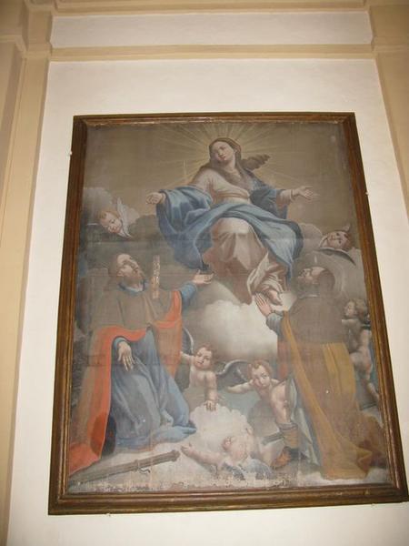 tableau : L'Assomption de la Vierge avec saint Roch et saint Paul