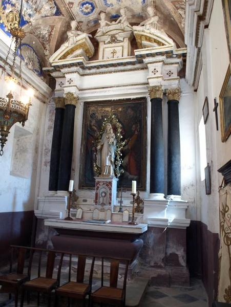 Ensemble de l'autel secondaire de la Vierge