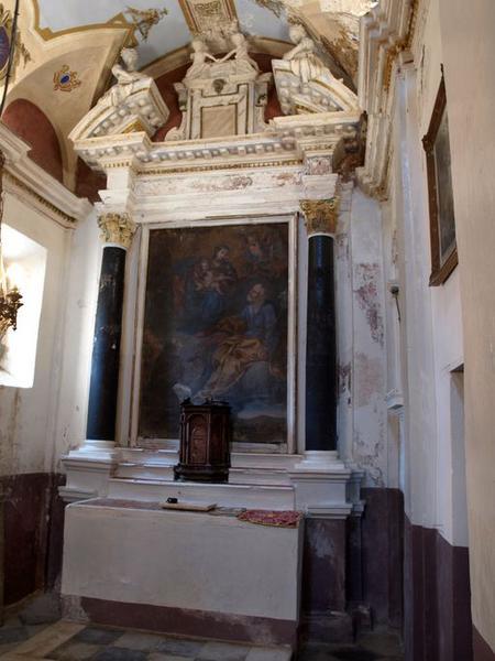 Ensemble de l'autel secondaire de saint Joseph