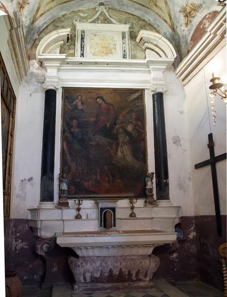 Ensemble de l'autel secondaire des Ames du Purgatoire