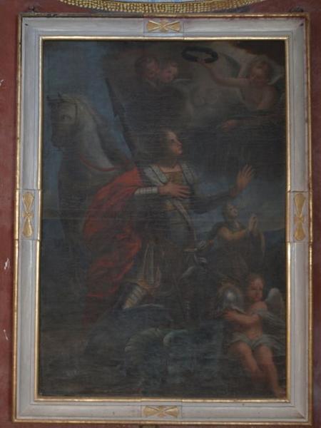 Tableau d'autel : Saint Georges terrassant le dragon