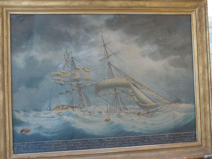 Ex-voto (tableau) : Navire pris dans une tempête