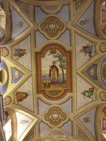 Peintures monumentales : Saint Nicolas, Evangélistes, ornementation
