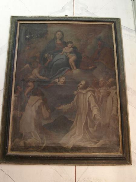 Tableau : Vierge à l'Enfant remettant la règle des chartreux à saint Bruno (La)