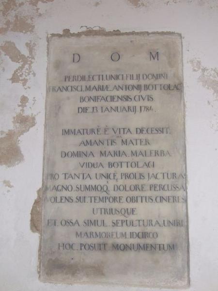Dalle funéraire d'Antoine Bottolaci