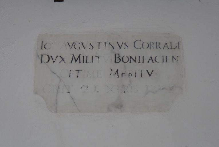 Dalle funéraire de Giovan Agostino Corradi