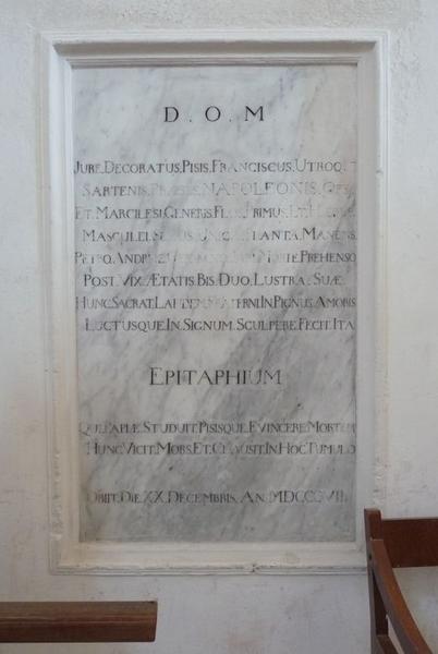 Dalle funéraire de Pietro Andrea Marcelesi