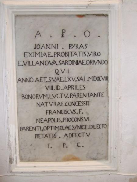Dalle funéraire de Giovanni Pyras