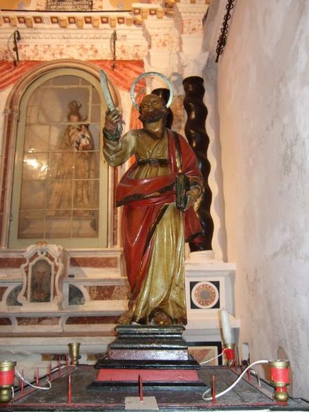 statue de procession : Saint Barthélémy