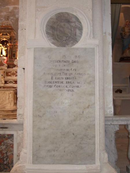 Dalle funéraire de Giovanni Brandi
