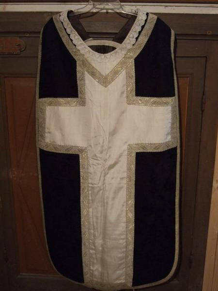 Voile de calice, chasuble (ornement noir) (No 2)