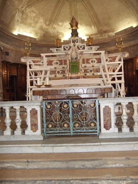 autel, gradins d'autel (3), tabernacle architecturé (maître-autel)