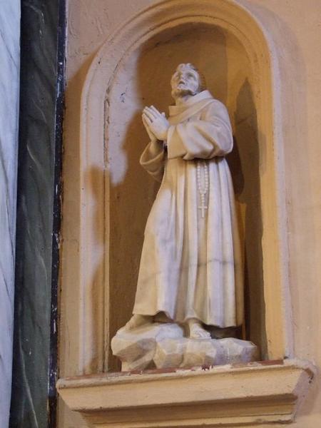 statue (petite nature) : Saint François d'Assise