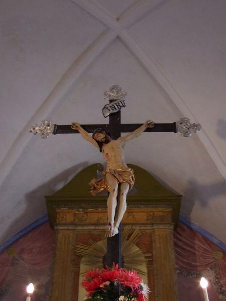 statue de procession : Christ en croix