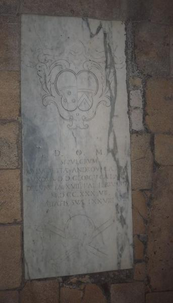 Dalle funéraire de Lucretia Celani née Andovrandi
