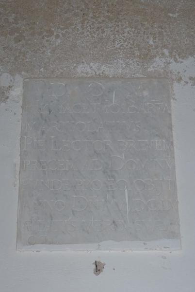 Dalle funéraire de Giovan Battista Martiolati