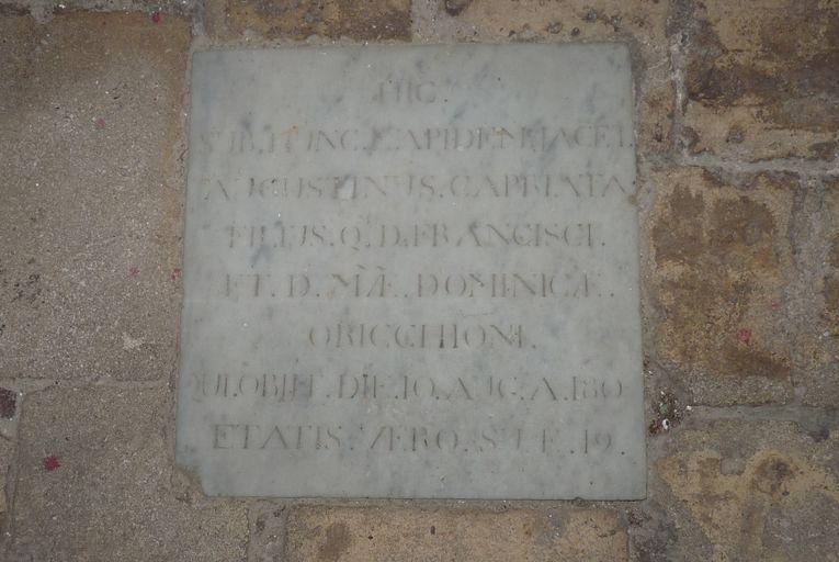 Dalle funéraire d'Agostino Capriata