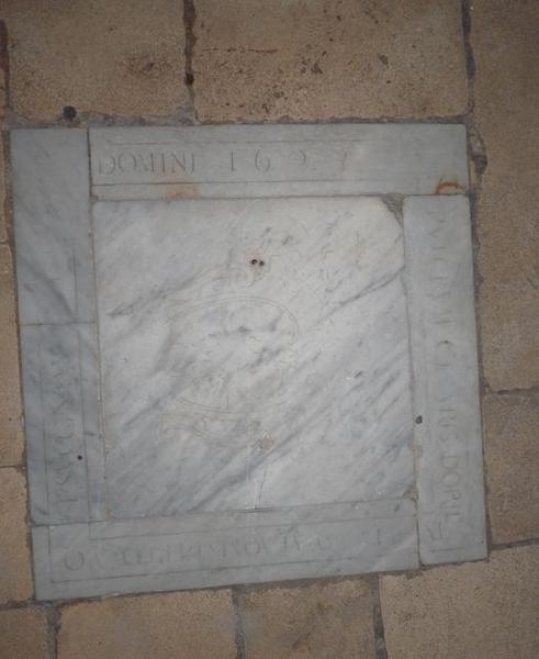 Dalle funéraire de Cesare Doria