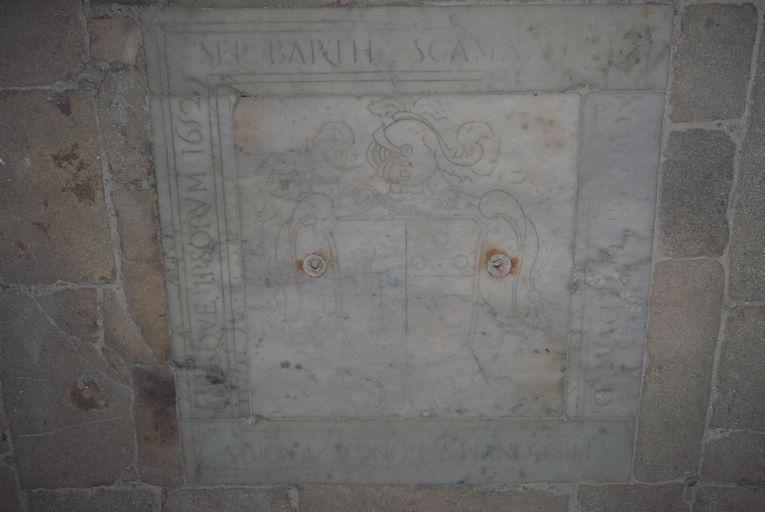 Dalle funéraire de Bartolomeo Scamaroni et de sa famille