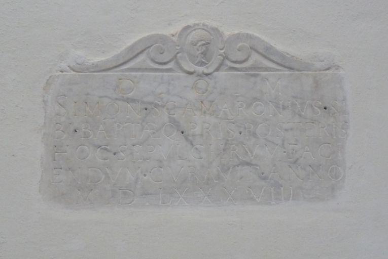 dalle funéraire de Simone Scamaroni