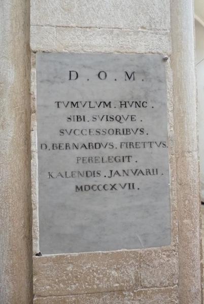 Dalle funéraire de Bernardo Firetti