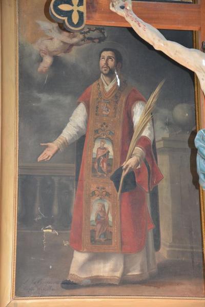 Tableau : Couronnement de saint Laurent