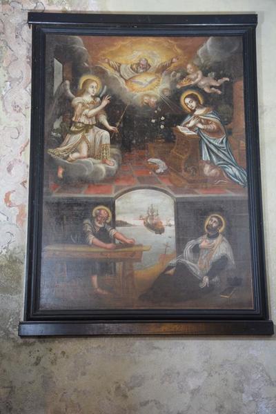tableau : Annonciation avec saint Joseph et saint François-Xavier