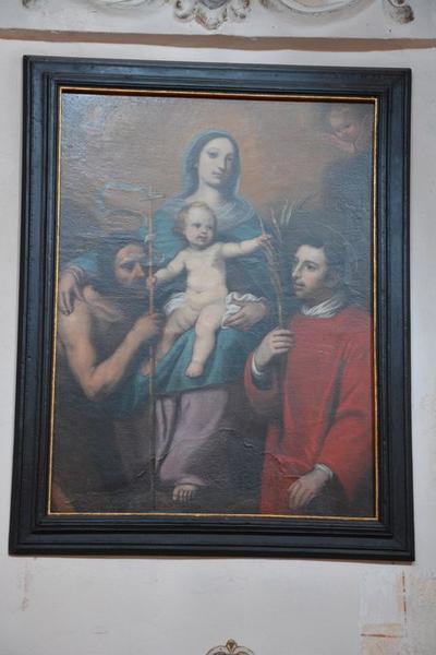 tableau : Vierge à l'Enfant entre saint Jean-Baptiste et saint Laurent