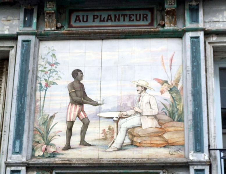 """Panneau de céramique """"Au planteur"""""""
