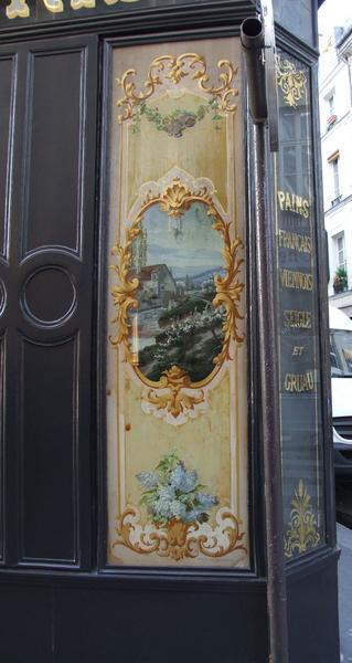 Façade rue de Poitou, détail moulin à eau
