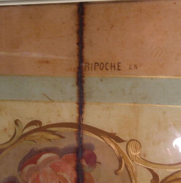 Décor intérieur : plafond : signature Ripoche (installateur)