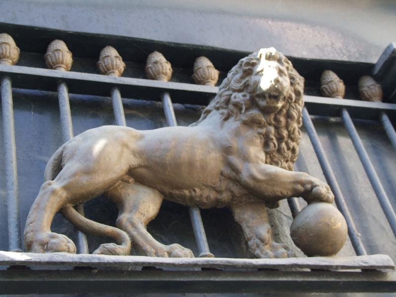 devanture ; élévation ; détail lion