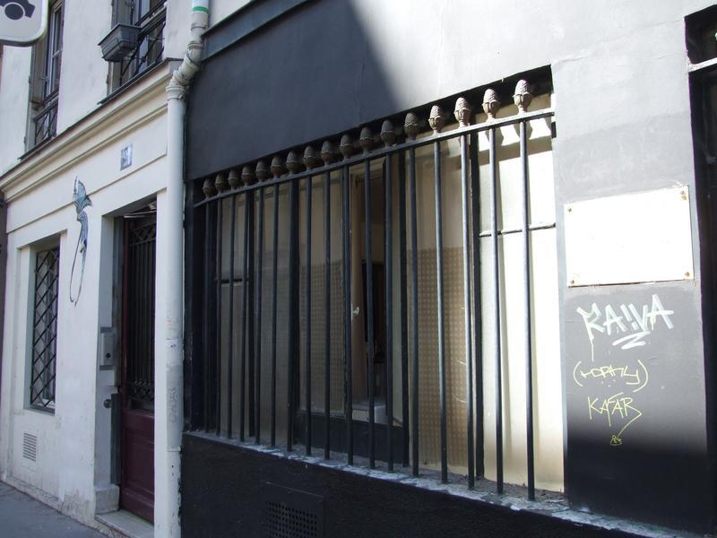 Devanture ; élévation ; grille sur la rue Jean Poulmarch