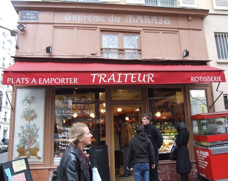 Devanture de la boutique sur la rue la Saint-Sabin