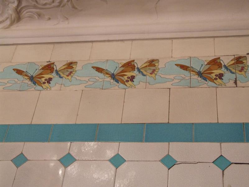 Frise ; papillons