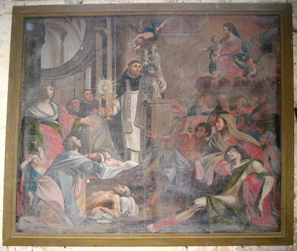 tableau : Saint Hyacinthe guérissant les malades par l'intercession de la Vierge