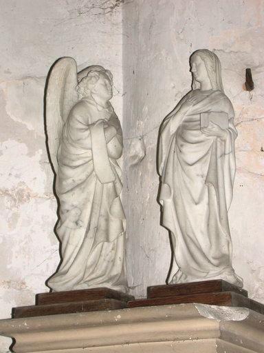 Groupe sculpté : Annonciation