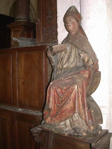 Statue : Saint Germer évêque, assis