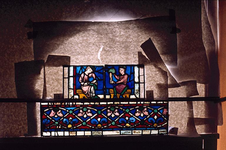Verrière : Mort et Assomption de la Vierge (baie 42)