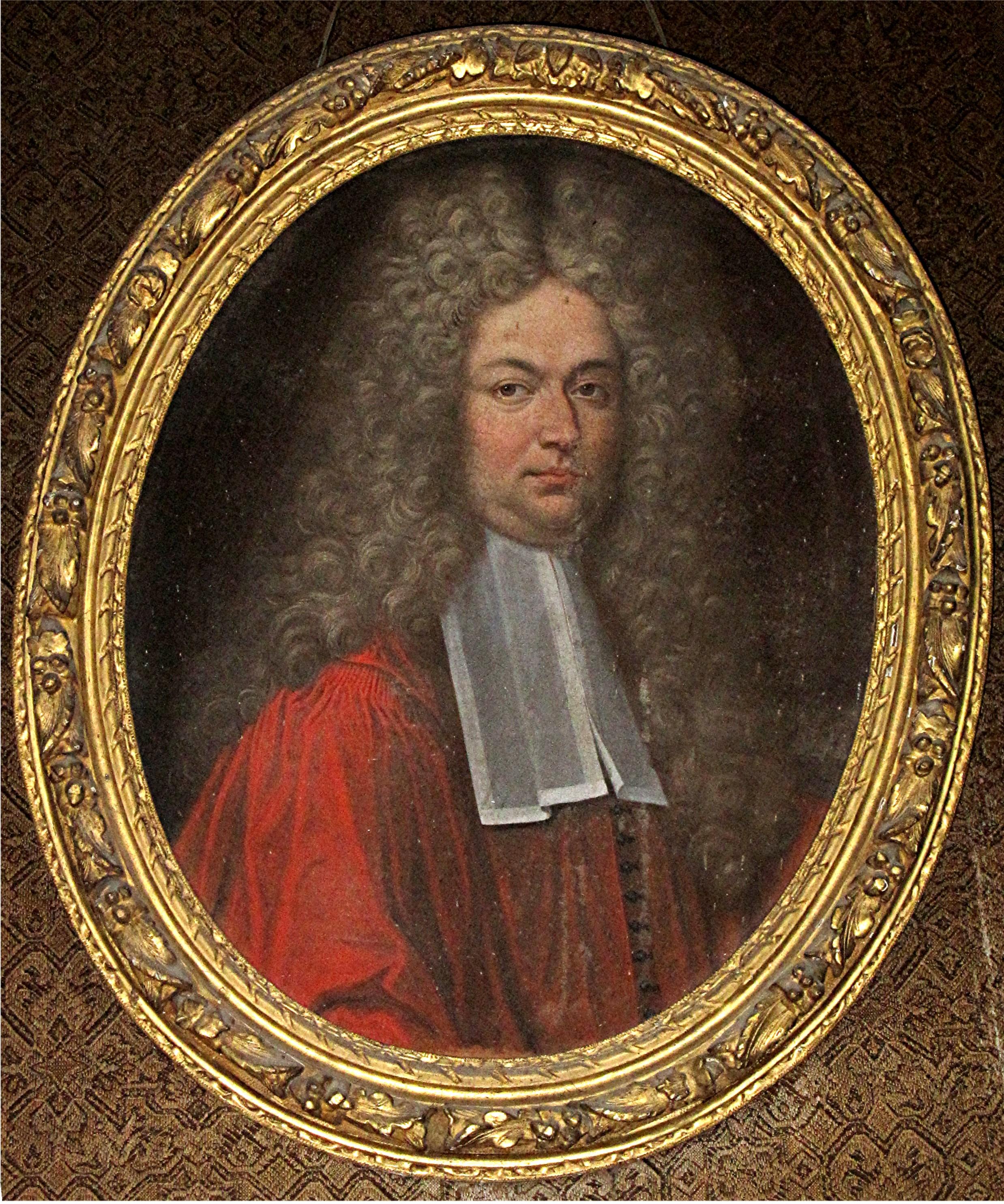 Tableau et son cadre : portrait de Jean-Baptiste de la Motte