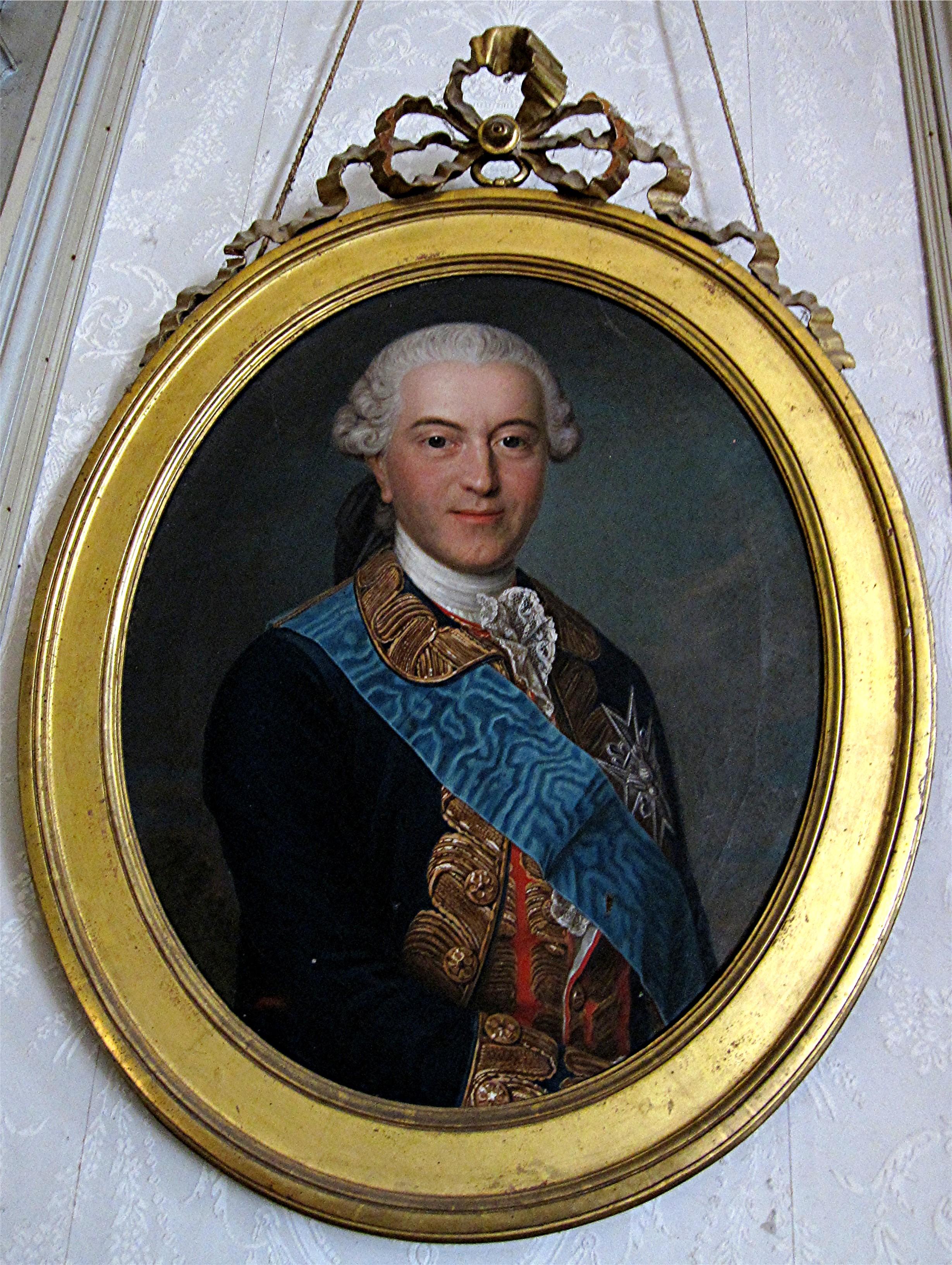 Tableau et son cadre : portrait de Louis-Paul de Brancas, duc de Céreste