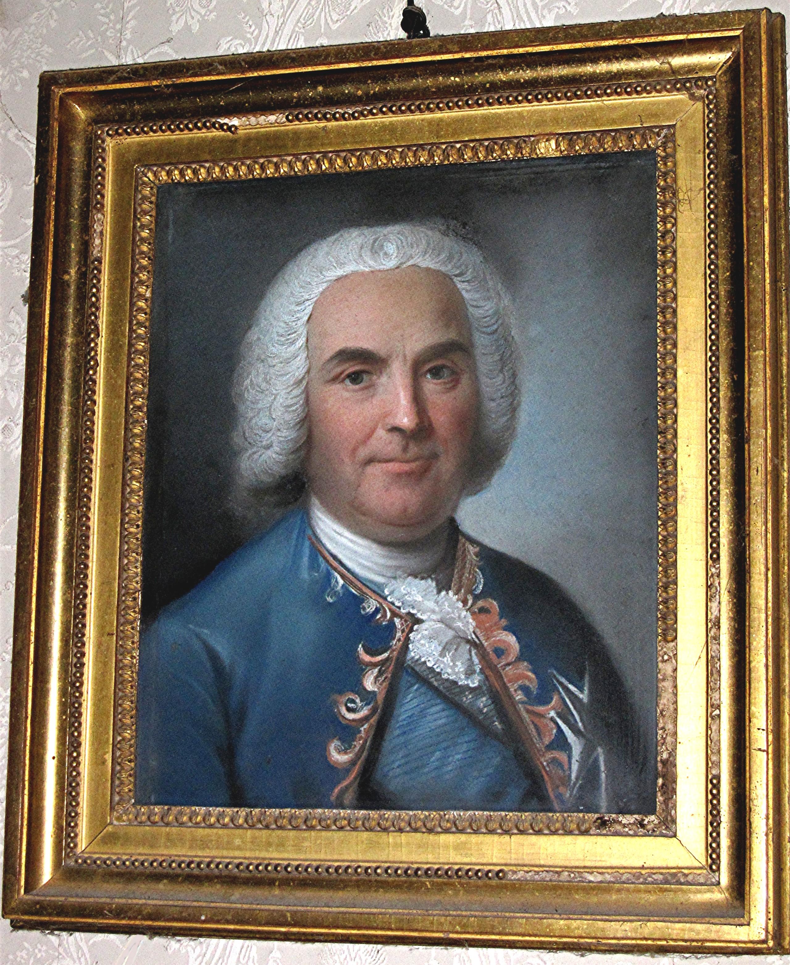 Tableau et son cadre : portrait en buste de Louis-Georges-Erasme de Contades
