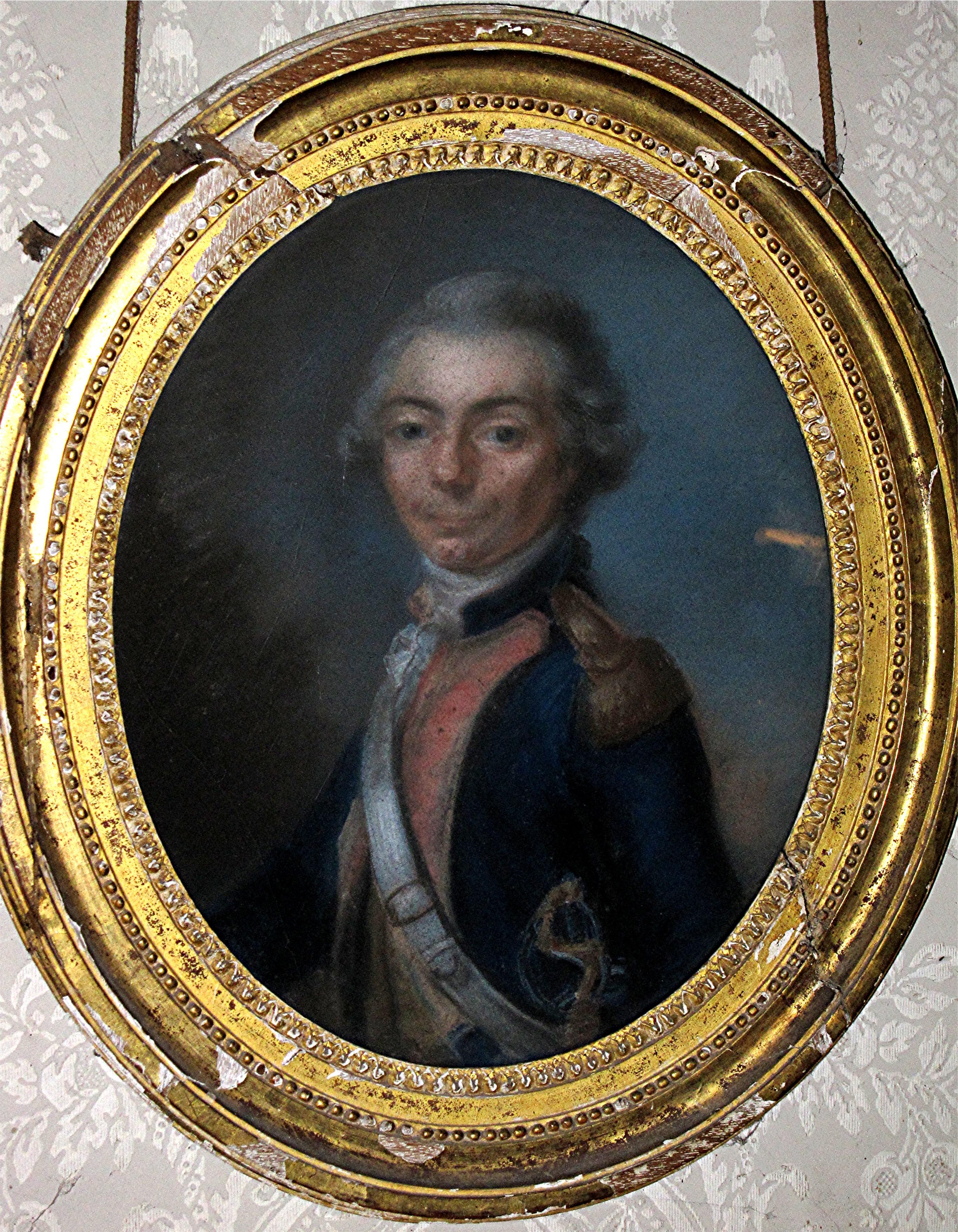 Tableau et son cadre : portrait d'Erasme-Gaspard de Contades, comte de Contades