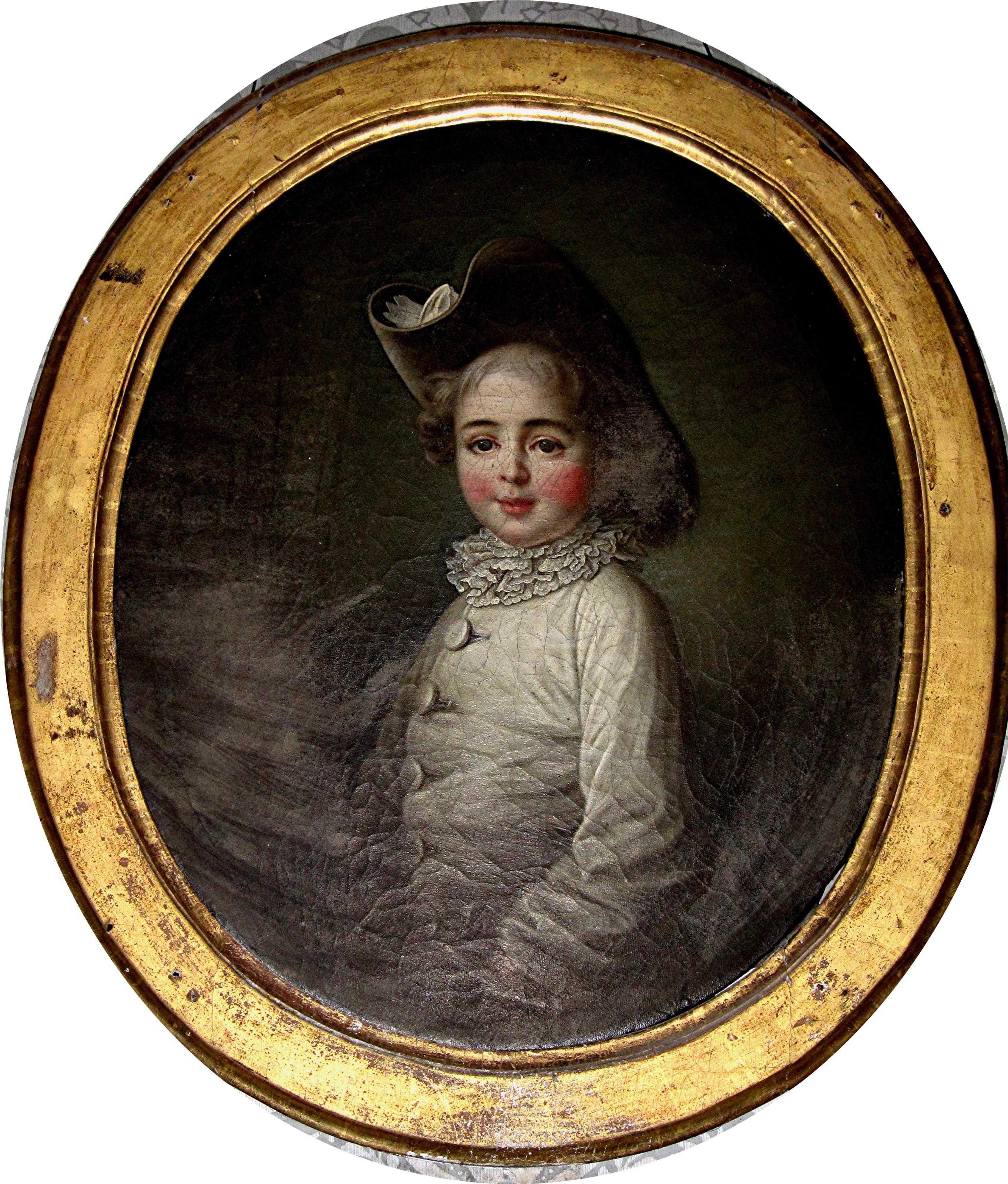 Tableau et son cadre : portrait de Marie-Jean Hérault de Séchelles enfant