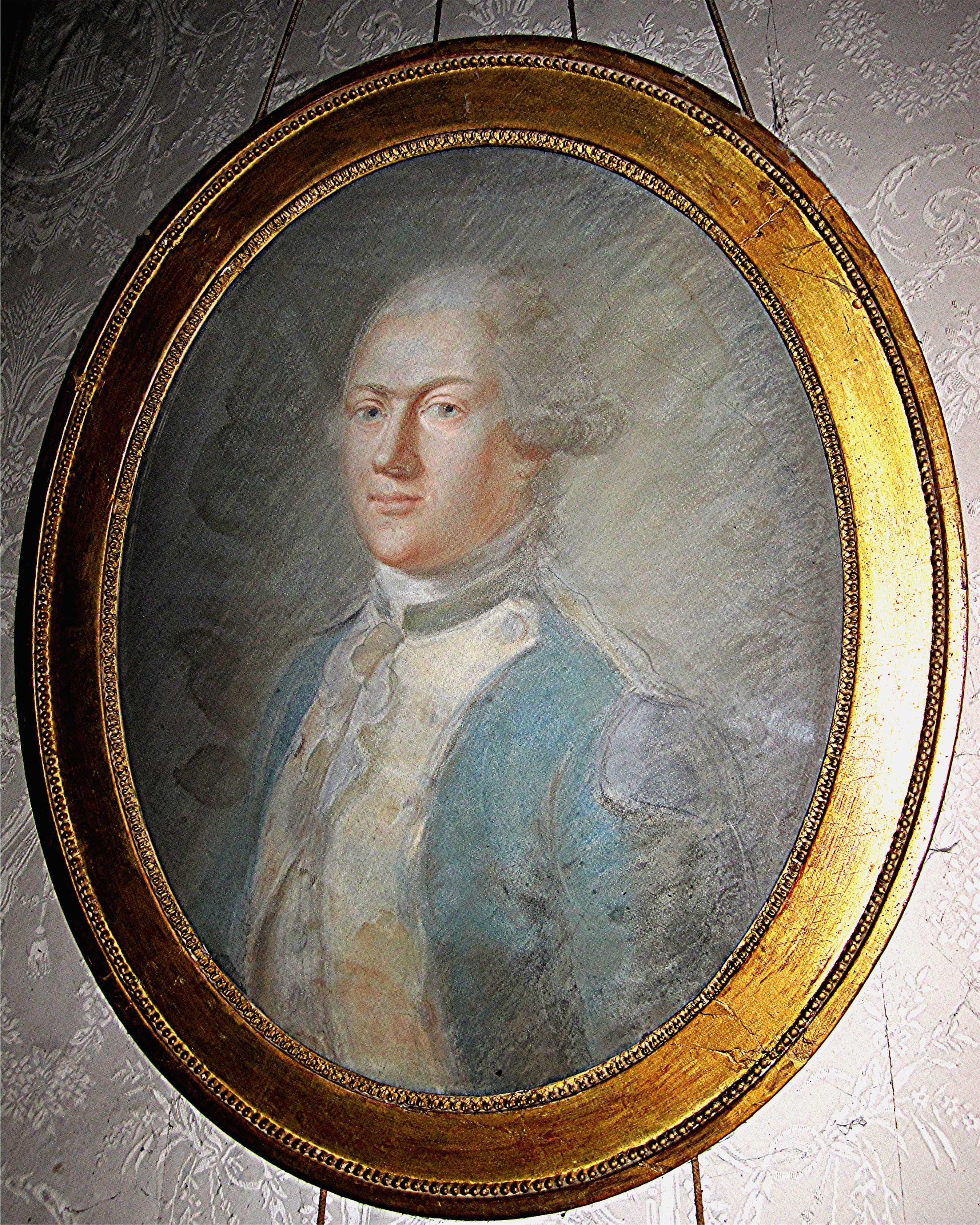 Tableau et son cadre : portrait de Charles-Henri-François de Maillé, marquis de la Tourlandry