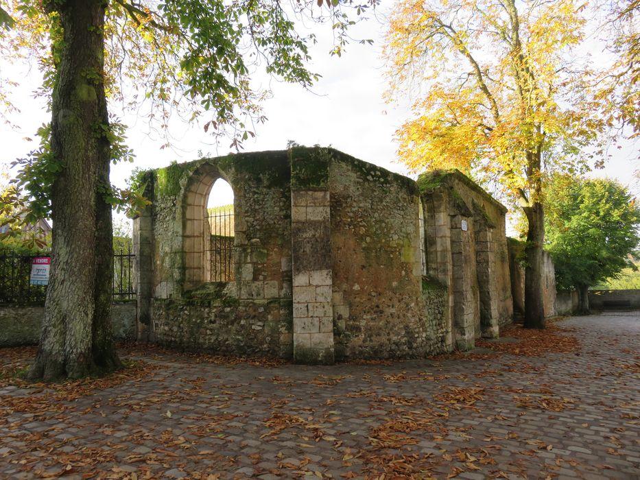 Ancienne église Saint-Lubin: Vue partielle des ruines